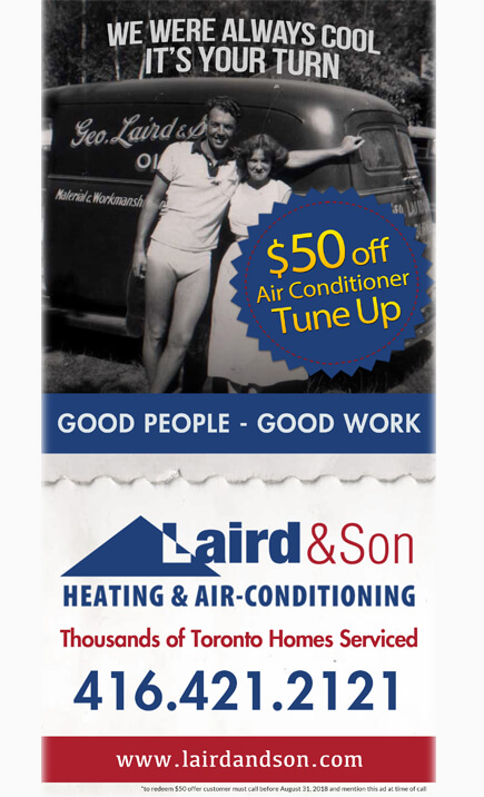 Laird and Son Summer Ad - 50 OFF - Were-Always-Cool